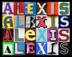 Amazon.com : ALEXIS Personalized Name Poster Using Sign Letters (Large
