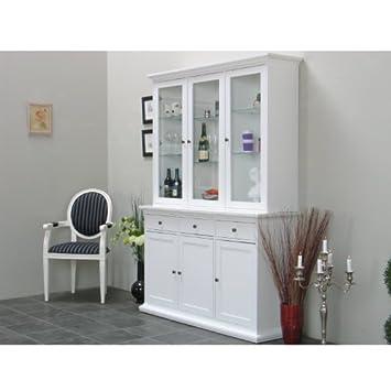 vitrinenschrank paris glas vitrine aufsatzbuffet buffet landhaus wei db572. Black Bedroom Furniture Sets. Home Design Ideas