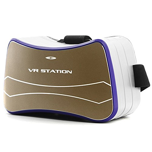 """""""Lincass 3D VR Glasses, 3D VR Virtual Reality Headset for 3D Movies support WIFI 802.11b/g/n ,Android 4.4 OR UP Quad Core ARM Cortex A7 Quad Core at 1.3G GHz """" (White)"""