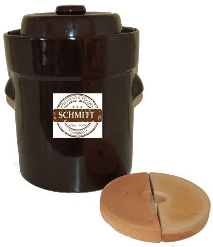 Ms-Steinzeug Pot à fermentation pour choucroute avec pierre d'alourdissement 5l