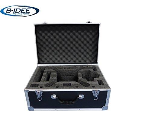 s-idee 01602 DJI 3 Phantom 3 Advanced und Professional Aluminiumkoffer Transportkoffer der Phantom passt mit angeschraubtem Propeller in den Koffer Reisekoffer