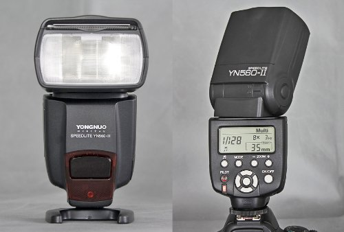 YN-560 ELECTRONIC SPEEDLIGHT SPEEDLITE FLASH FLASHGUN With The Standard Hot Shoe,for CANON EOS 1Ds, 5D, 7D, 30D, 40D, 400D, 450D, 500D, 550D, 1000D, Nikon D700, D300, D100, D90, D60, D3, D2, D1, D7000, D5000, D5100, D3100, D3000, Olympus E620, E520, E510, E500, E420, E3, Pentax, K20D, K200D, Fuji S5 Pro DSLR
