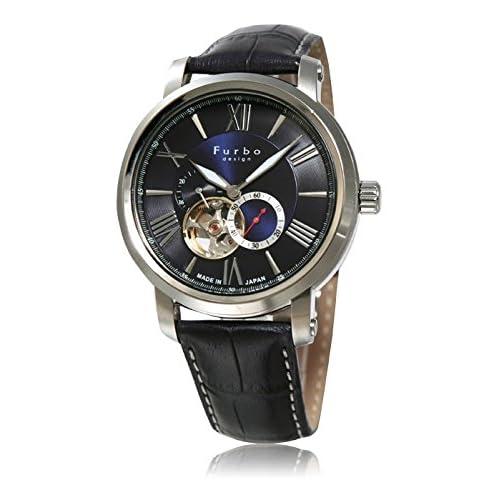 (フルボデザイン)Furbo Design 腕時計 スケルトン ステンレススチール スケルトン ブルーダイアル メンズサイズ [並行輸入品]