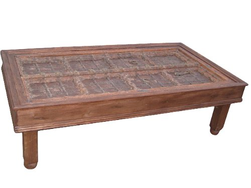 Buy Low Price Antique Carved Rossettes Floral Coffee Table