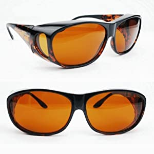 Eschenbach Solar Shields Sun Glasses Large Amber Filter