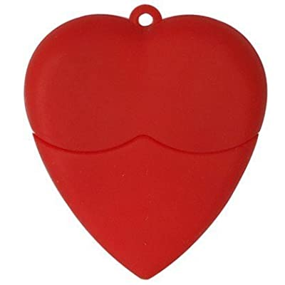 Microware 16GB Rubber Red Heart ShMicroware Pen Drive