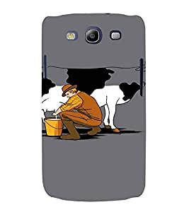 EPICCASE Cow milk Mobile Back Case Cover For Samsung Galaxy S3 Neo (Designer Case)