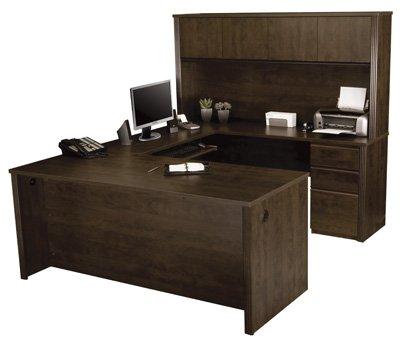 u shaped desk w hutch 2 boxboxfile sets good choice