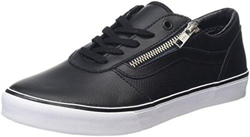 Vans Milton Zip, Scarpe da Ginnastica Basse Donna, Nero (Perf Leather Black), 38 EU