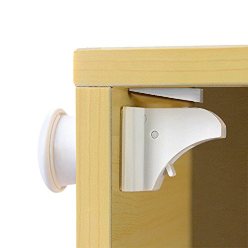 BESTOPE Baby Cabinet Lock Safety Drawer Magnetic Locks 10 Locks with 2 keys, Easy Install, No Screws (Magnetic Baby Cabinet Lock compare prices)