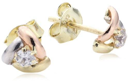 Amor Jewelry Damen-Ohrstecker 8 Karat 333 Gelbgold 361842