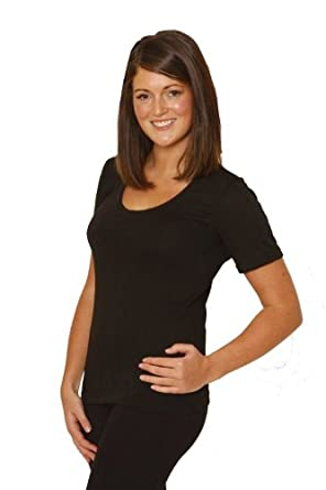 OCTAVE® Ladies/Womens Thermal Underwear Short Sleeve T-Shirt/Vest/Top (OS, Snow White)