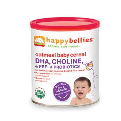 HappyBaby - HappyBellies Organic Oatmeal Cereal - 7 oz.