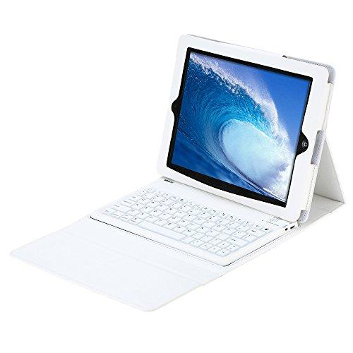 KKmoon ワイヤレスBluetoothキーボード+折りたたみPUレザーケースカバー iPad 2 3 4用並行輸入品