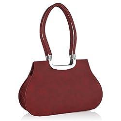 Fostelo Women's Siena Shoulder Bag (Maroon) (FSB-432)