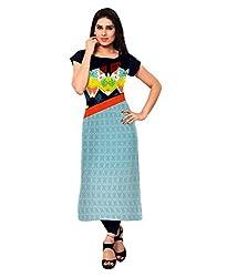 Shivam Women's Crepe Kurti (VT156_Multi-Coloured_40)