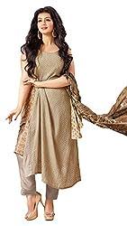 Mahaveer Fashion Women's Dress Material (8960_25_72006_Beige_Free Size)