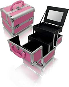 Click Here For Cheap Amazon.com: Seya Pink Mini Train Case With Mirror: Beauty For Sale