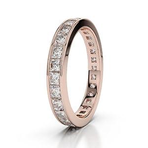 9 KT Rose Gold Diamond Half Eternity Ring AGDR-1133-VSFG