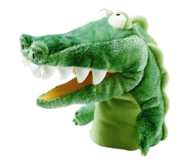 Manhattan Toy Chopper Chums Gary Gator Plush Hand Puppet