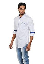Rapphael Men's Full sleeve Casual Shirt -White