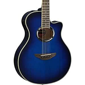 yamaha apxiii thinline acoustic electric guitar oriental blue burst musical. Black Bedroom Furniture Sets. Home Design Ideas