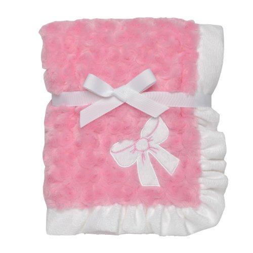Baby Starters Plush Swirl Blanket, Bow, Pink