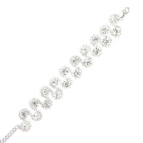 JOA Rhinestone Multi Circle Design Bracelet #039523