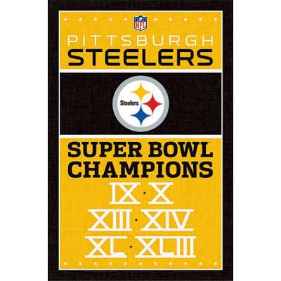 Pittsburgh Steelers Champions Football Poster at Steeler Mania