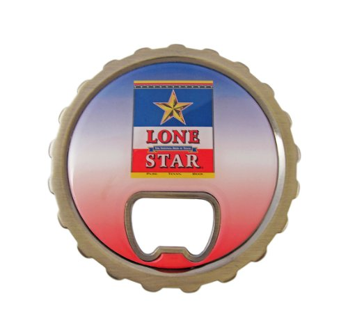 Lone Star Beer Belt Buckle Bottle Opener