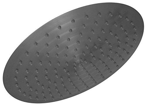 Edelstahl Regendusche Duschkopf Kopfbrause Durchmesser 300 mm, slim, gebürstet, 603055