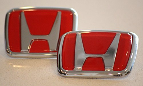 Quality Red Honda Type R Emblem Set JDM RED Front and Rear 1990 -0200 Accord Civic EK9 (Red) (Red Honda compare prices)