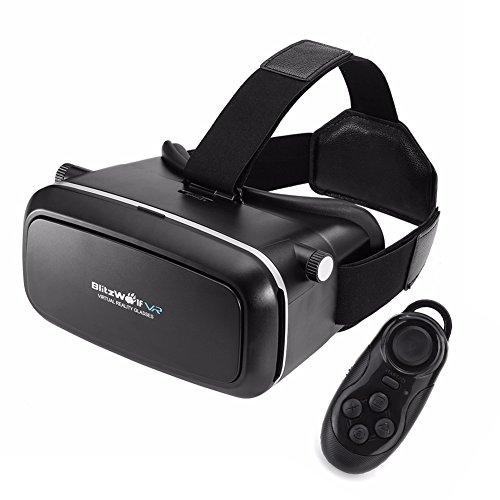 vr box casque r alit virtuelle t l commande bluetooth blitzwolf vr headset lunettes 3d pour. Black Bedroom Furniture Sets. Home Design Ideas