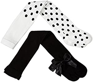 kate spade york Baby Girls' Box Set of Tights-Black/Black Dot