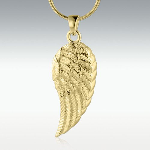 Wing of an Angel 14k Gold Vermeil Cremation Jewelry