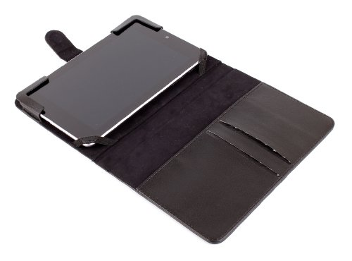 DURAGADGET Premium Quality Motorola Protective Tablet Case - Stylish Faux Leather 'Book-Style' Folding Case / Cover with Elasticated Corners and Magnetic Closure for MOTOROLA XOOM Android Tablet (10.1-Inch, 32GB, Wi-Fi) from Electronic-Readers.com