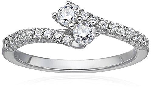 IGI-Certified-14k-White-Gold-Diamond-Two-Stone-Plus-Engagement-Ring-H-I-Color-I1-I2-Clarity