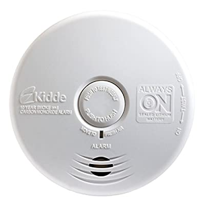 Kidde P3010K-CO Battery-Operated Combination Carbon Monoxide and Smoke Alarm with Photoelectric Sensor from Kidde