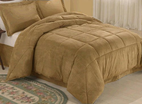 Camel Microsuede Down Comforter Alternative 4
