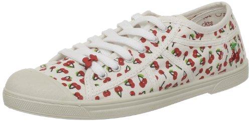 Le Temps des Cerises - Sneaker, Donna, Bianco (Blanc (Cherry Print)), 38