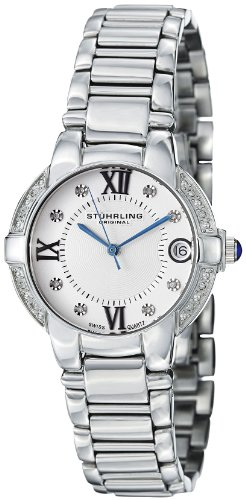 Stuhrling Original Women's 338L.12112 Symphony Regent Countess Elite Swiss Quartz Genuine Diamond Date Bracelet Watch