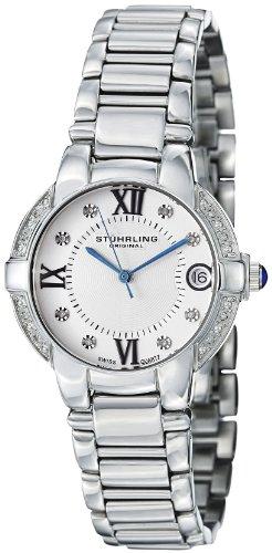 Stuhrling Original Women's 338L.12112 Symphony Regent Countess Elite Swiss Quartz Genuine Diamond Date Bracelet Watch