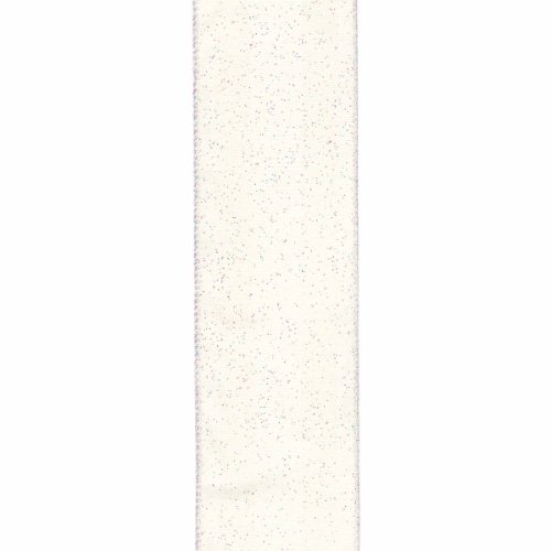 Offray Wired Edge Quest Craft Ribbon, 2 1/2-Inch x 9-Feet, Ivory