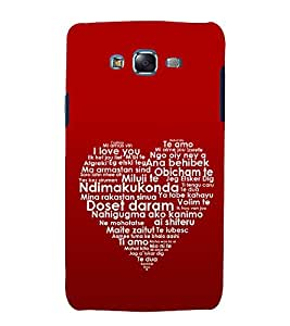 printtech Love Heart Quote Back Case Cover for Samsung Galaxy Core Prime G360