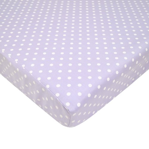 American Baby Company 100% Cotton Percale Fitted Portable/Mini Crib Sheet, Lavender Dots