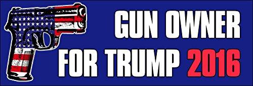 GUN OWNER for Trump 2016 Bumper Sticker (2nd usa decal gop) (Gun Owner Decals compare prices)