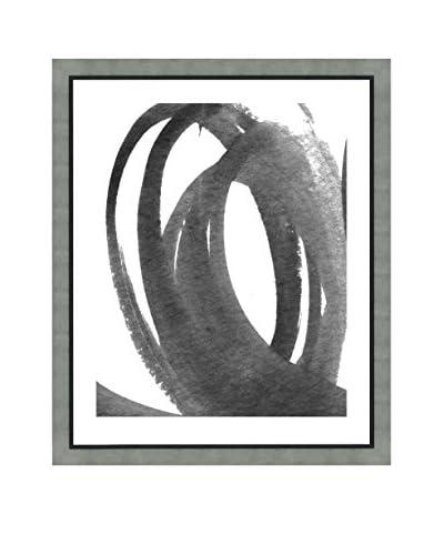 """Art Source Watercolor Black Brushstroke II, Multi, 23"""" x 19"""""""