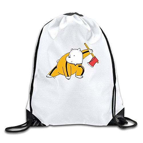 GIGIFashion We Bare Bears Kung Fu Ice Cream Panda Drawstring Backpacks/Bags.
