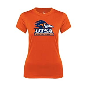 UTSA Ladies Syntrel Performance Orange Tee 'UTSA Stacked Logo' - Small