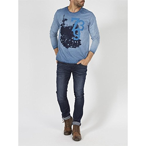 Petrol Industries T-shirt Ls R-neck 571-/-m-fw16-tlr774-Camicia a maniche lunghe Uomo    foglia di tè XXXL
